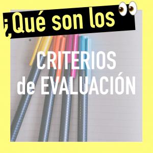 Definición de criterios de evaluación