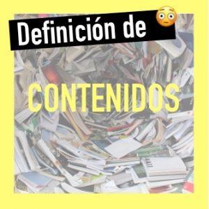Definición de contenidos didácticos