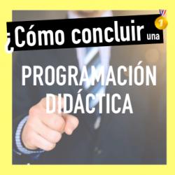 frases para terminar una programación didáctica