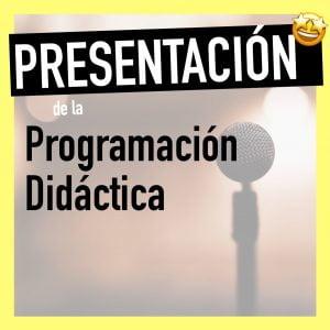 Exposición Programación y unidades didácticas