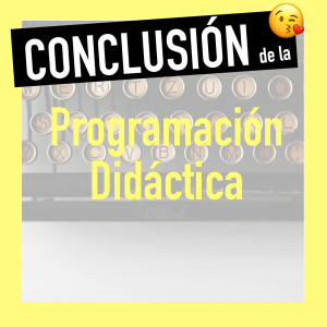 Conclusión programación de aula