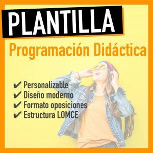 plantilla programación didáctica word