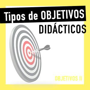 Tipos de objetivos didácticos