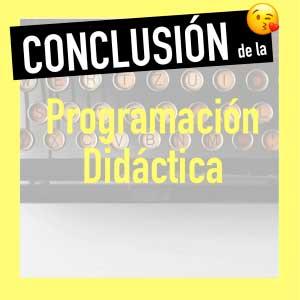 cómo concluir programación didáctica
