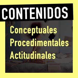 Tipos de contenidos en la programación didáctica