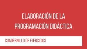 curso programación y unidades didácticas - cuaderno de ejercicios