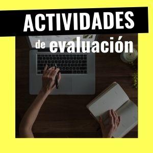actividades de evaluación en primaria, secundaria y fp
