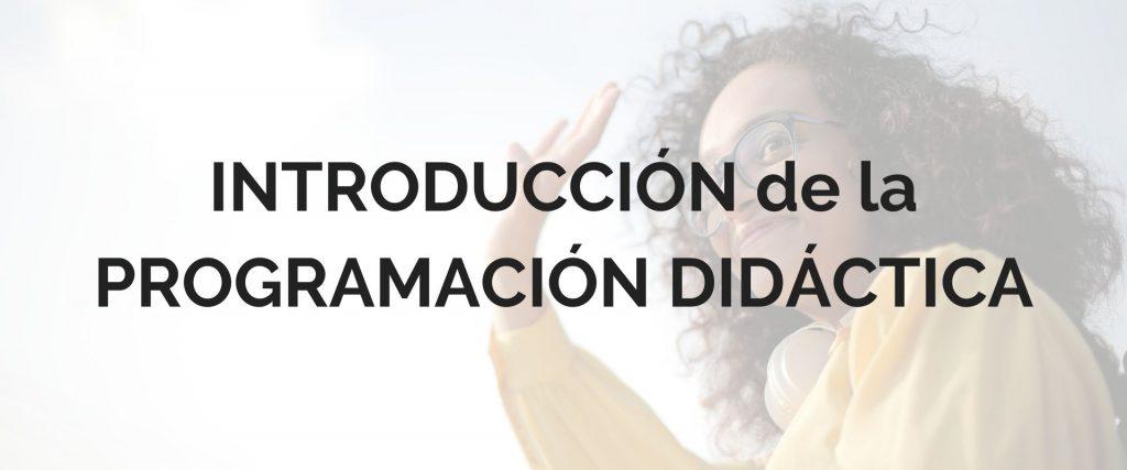 introducción original programación didáctica