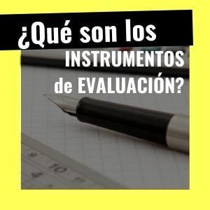 qué es un instrumento de evaluación