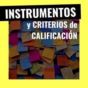 instrumentos de calificación y criterios de calificación
