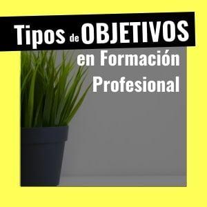 Objetivos formación profesional programación didáctica oposiciones