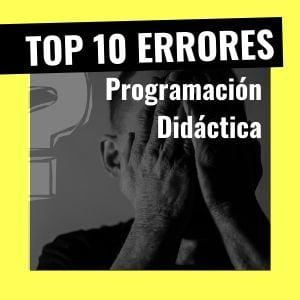 fallos programación didáctica
