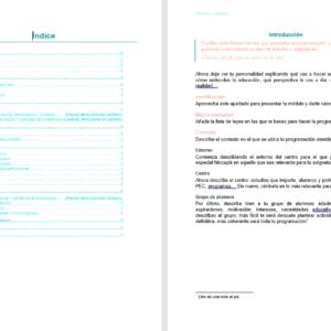 plantilla para programación didáctica primaria y secundaria